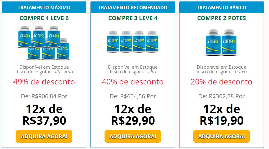 preço de ActionPro